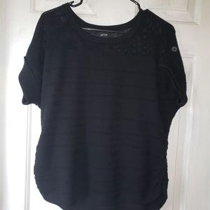 Apt 9 black knit sweater shirt